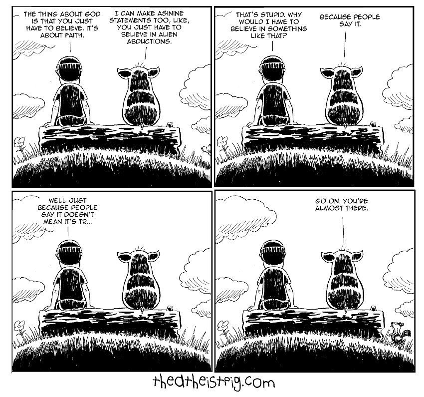 The Atheist Pig Cartoon